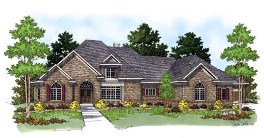 Traditional Style House Plans Plan: 7-569