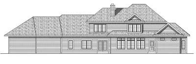 Rear Elevation Plan: 7-569