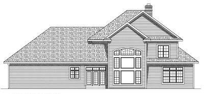 Rear Elevation Plan: 7-570