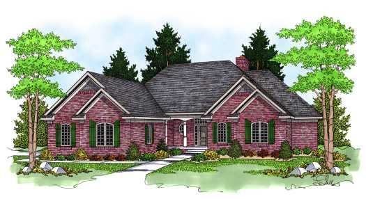 Traditional Style Home Design Plan: 7-571