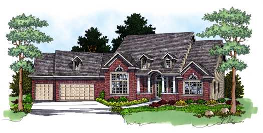 Traditional Style House Plans Plan: 7-572