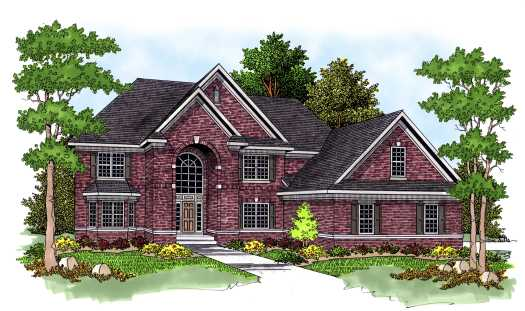 Traditional Style Home Design Plan: 7-573