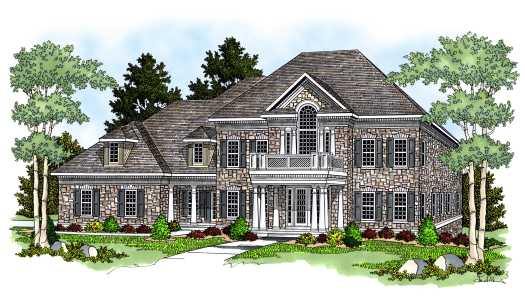 Southern-colonial Style House Plans Plan: 7-574