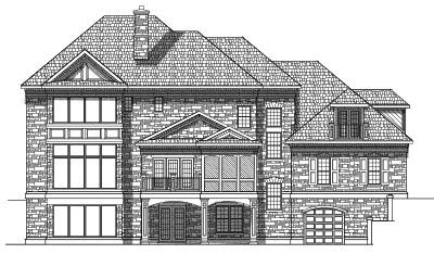 Rear Elevation Plan: 7-574