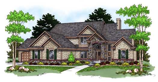 European Style Floor Plans Plan: 7-575