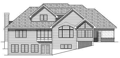 Rear Elevation Plan: 7-576