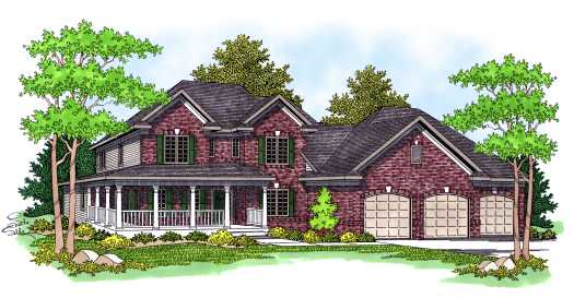 Country Style Floor Plans Plan: 7-577