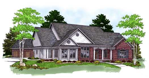Southern Style Home Design Plan: 7-579