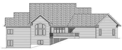 Rear Elevation Plan: 7-579