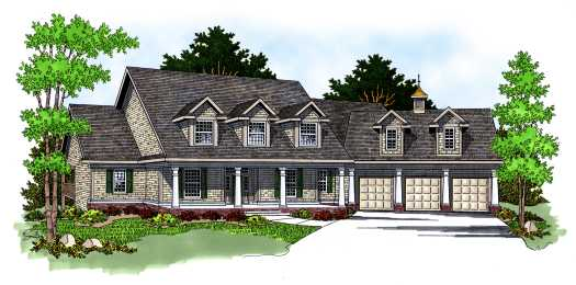 Country Style House Plans Plan: 7-580