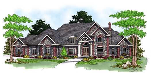 European Style Floor Plans Plan: 7-581