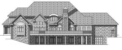 Rear Elevation Plan: 7-581