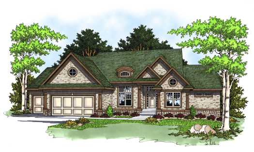 Traditional Style Home Design Plan: 7-583