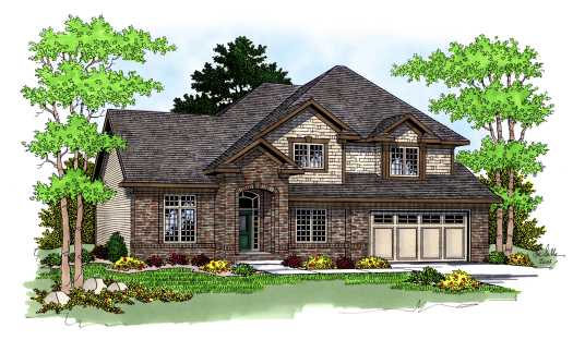 Traditional Style Home Design Plan: 7-584