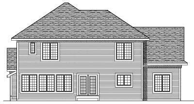 Rear Elevation Plan: 7-584