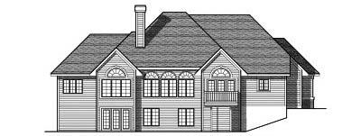 Rear Elevation Plan: 7-586