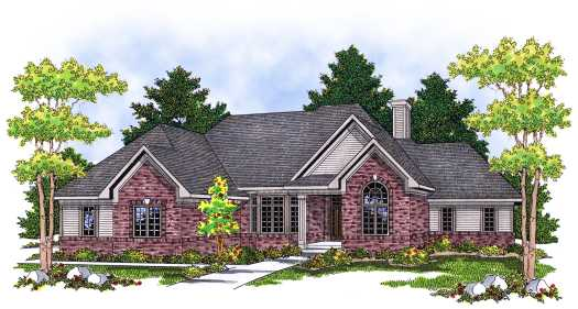 Traditional Style Floor Plans Plan: 7-587