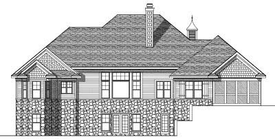 Rear Elevation Plan: 7-588