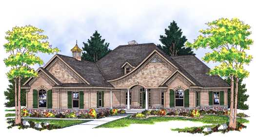 French-country Style Floor Plans Plan: 7-589