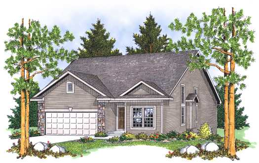 Traditional Style Home Design Plan: 7-590