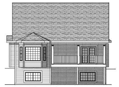 Rear Elevation Plan: 7-590