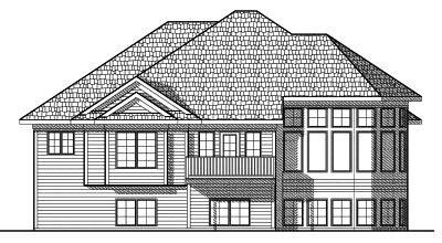 Rear Elevation Plan: 7-592