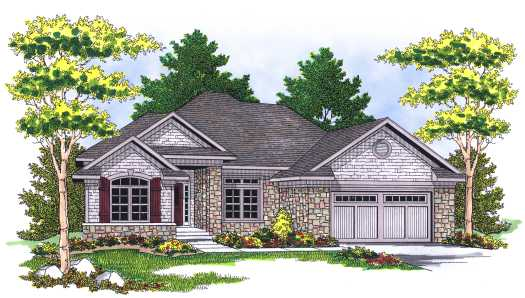 Traditional Style Home Design Plan: 7-593