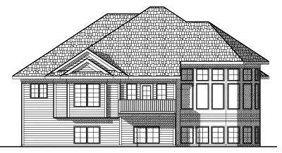 Rear Elevation Plan: 7-593