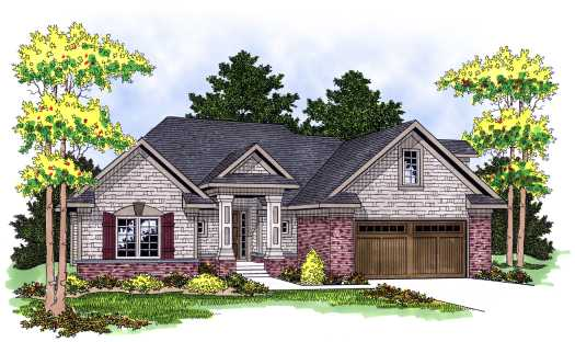 Traditional Style House Plans Plan: 7-594