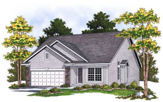 Traditional Style Home Design Plan: 7-596