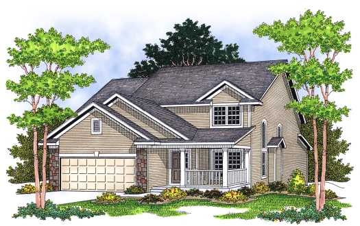 Traditional Style House Plans Plan: 7-597