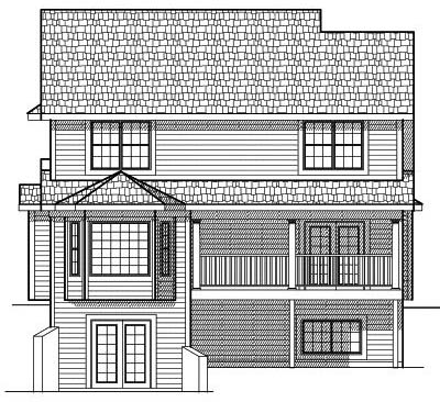Rear Elevation Plan: 7-597