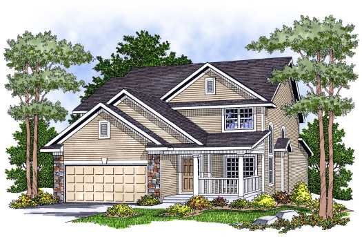 Traditional Style Home Design Plan: 7-598