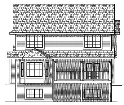 Rear Elevation Plan: 7-598