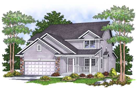 Traditional Style Home Design Plan: 7-599