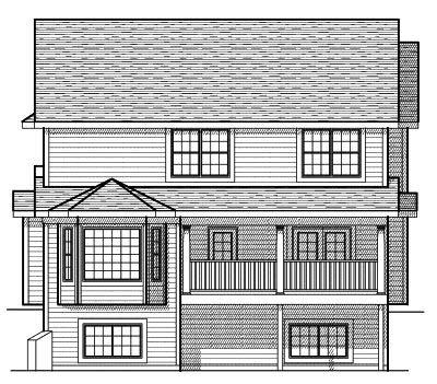 Rear Elevation Plan: 7-599