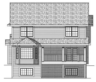 Rear Elevation Plan: 7-600