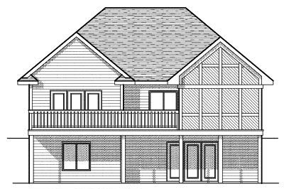 Rear Elevation Plan: 7-602