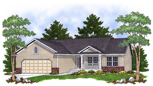Ranch Style Home Design Plan: 7-603