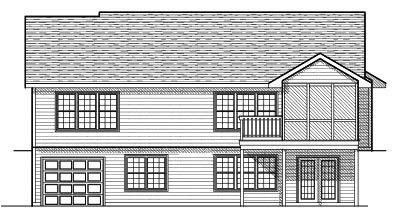 Rear Elevation Plan: 7-603