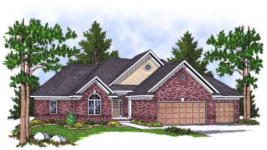 Traditional Style Home Design Plan: 7-605