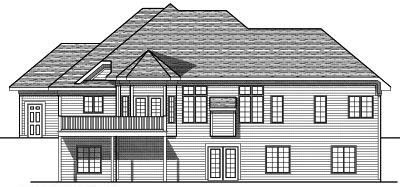 Rear Elevation Plan: 7-605
