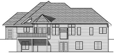 Rear Elevation Plan: 7-606