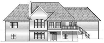 Rear Elevation Plan: 7-607