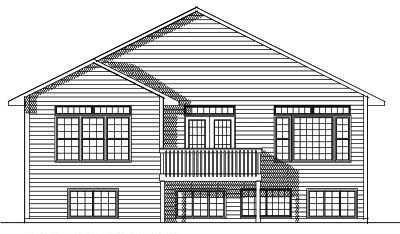 Rear Elevation Plan: 7-608