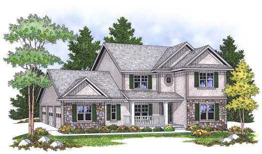 Country Style House Plans Plan: 7-609