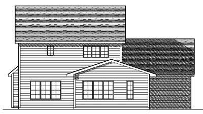 Rear Elevation Plan: 7-609
