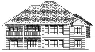 Rear Elevation Plan: 7-610