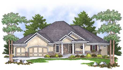 Traditional Style Home Design Plan: 7-611