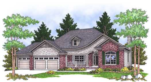 French-country Style House Plans Plan: 7-614